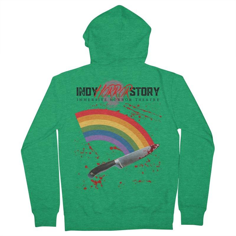 IHS Pride Rainbow Men's Zip-Up Hoody by indyhorrorstory's Artist Shop