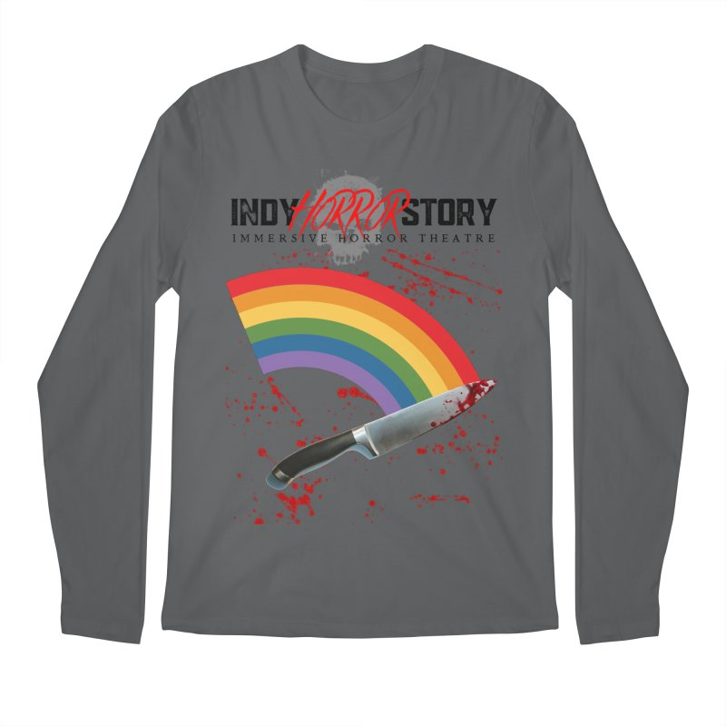IHS Pride Rainbow Men's Longsleeve T-Shirt by indyhorrorstory's Artist Shop