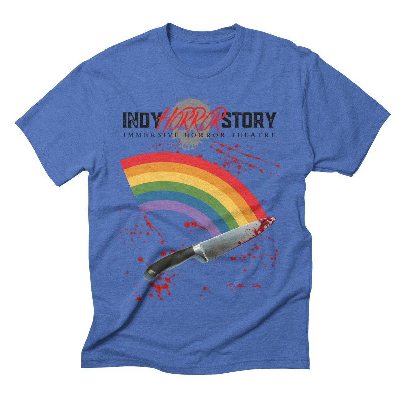 IHS Pride Rainbow Men's T-Shirt by indyhorrorstory's Artist Shop