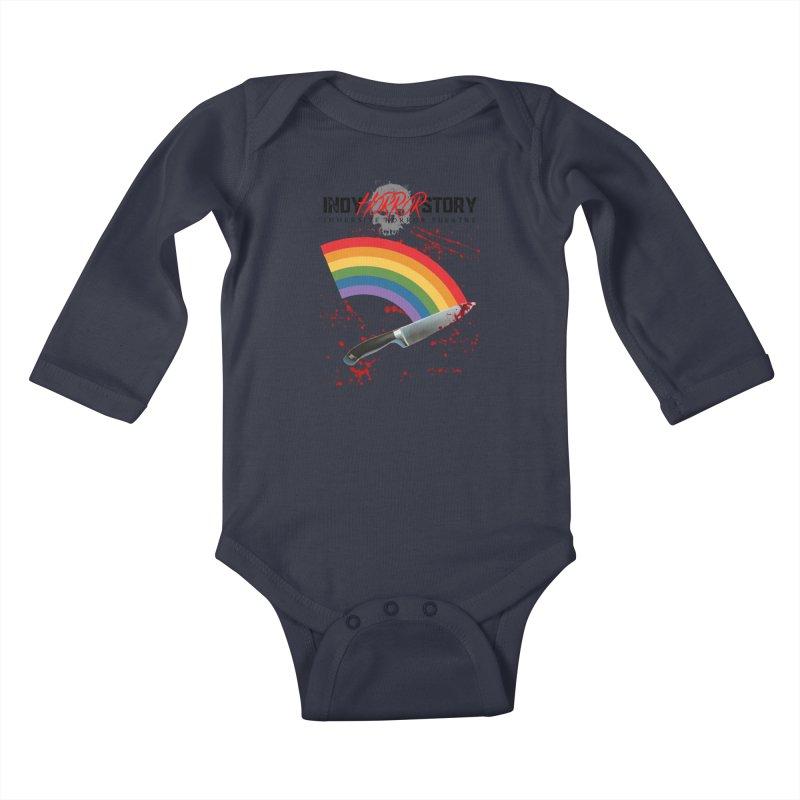 IHS Pride Rainbow Kids Baby Longsleeve Bodysuit by indyhorrorstory's Artist Shop