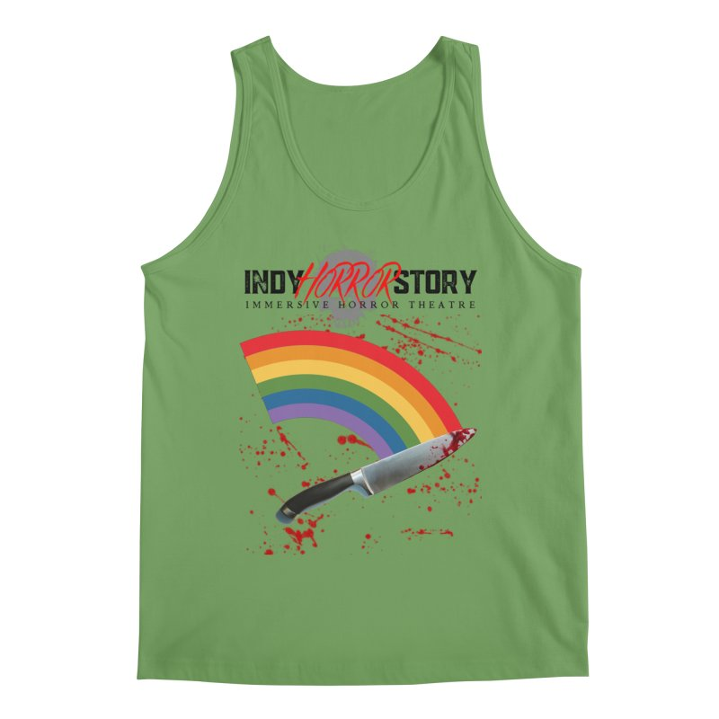 IHS Pride Rainbow Men's Tank by indyhorrorstory's Artist Shop
