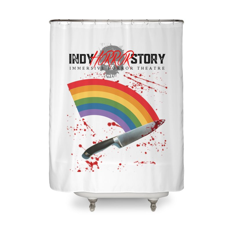 IHS Pride Rainbow Home Shower Curtain by indyhorrorstory's Artist Shop