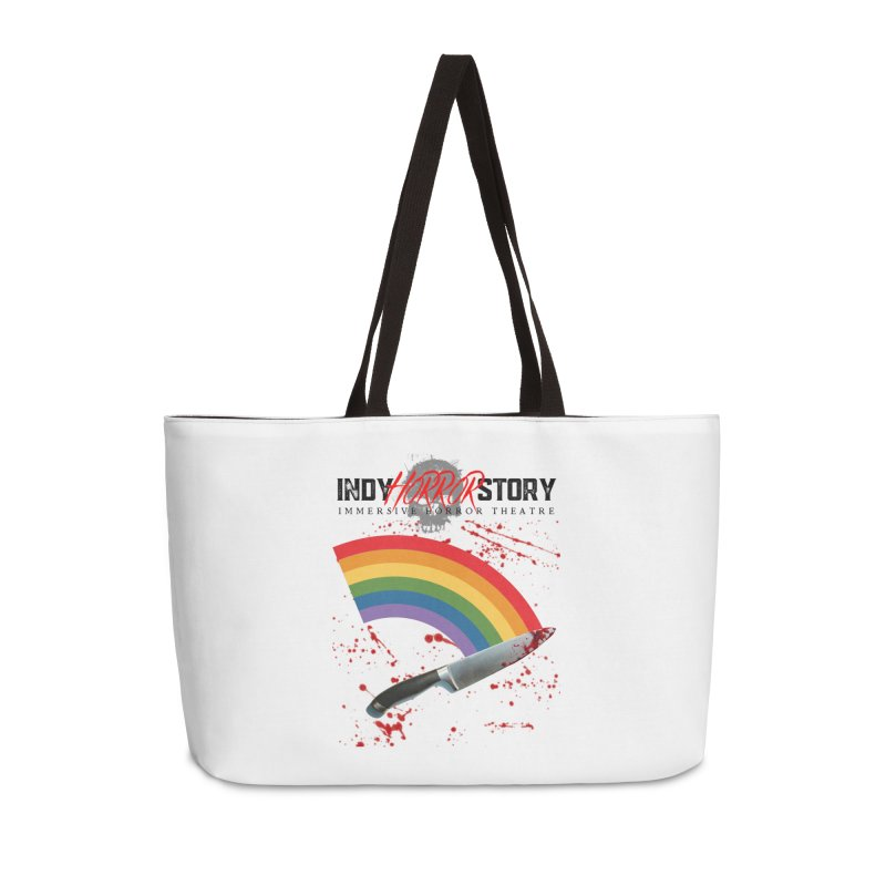 IHS Pride Rainbow Accessories Bag by indyhorrorstory's Artist Shop