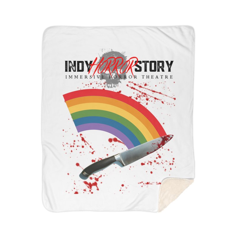 IHS Pride Rainbow Home Blanket by indyhorrorstory's Artist Shop