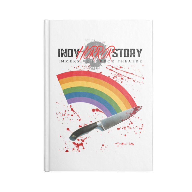 IHS Pride Rainbow Accessories Notebook by indyhorrorstory's Artist Shop
