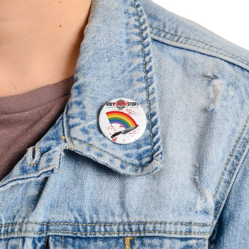 IHS Pride Rainbow Accessories Button by indyhorrorstory's Artist Shop