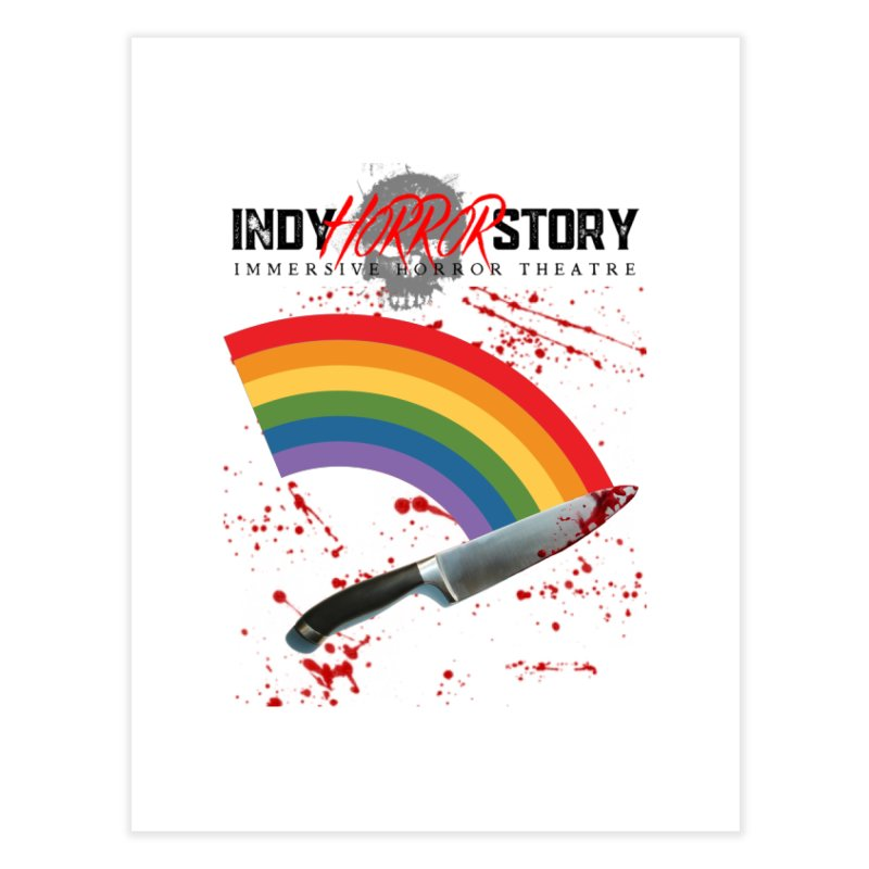 IHS Pride Rainbow Home Fine Art Print by indyhorrorstory's Artist Shop