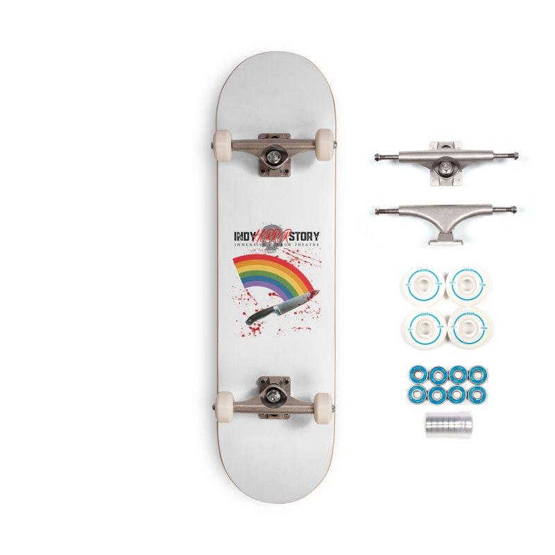 IHS Pride Rainbow Accessories Skateboard by indyhorrorstory's Artist Shop