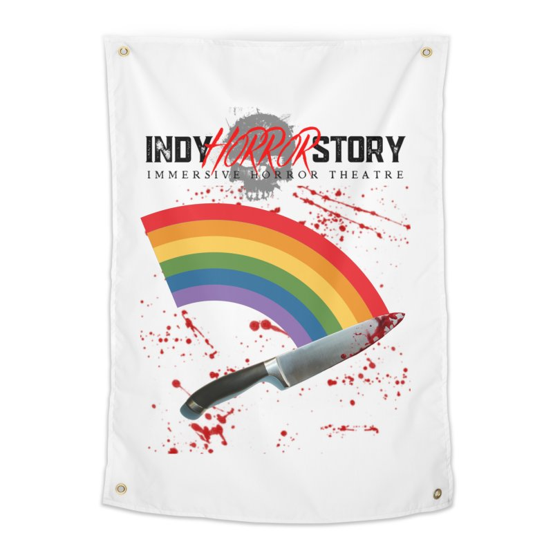 IHS Pride Rainbow Home Tapestry by indyhorrorstory's Artist Shop