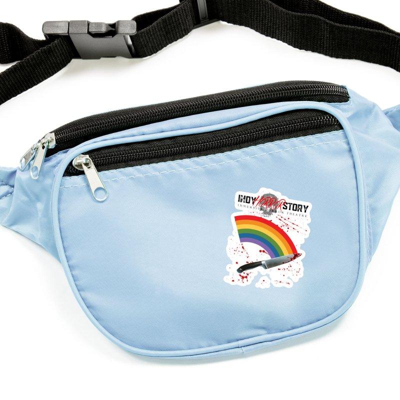 IHS Pride Rainbow Accessories Sticker by indyhorrorstory's Artist Shop