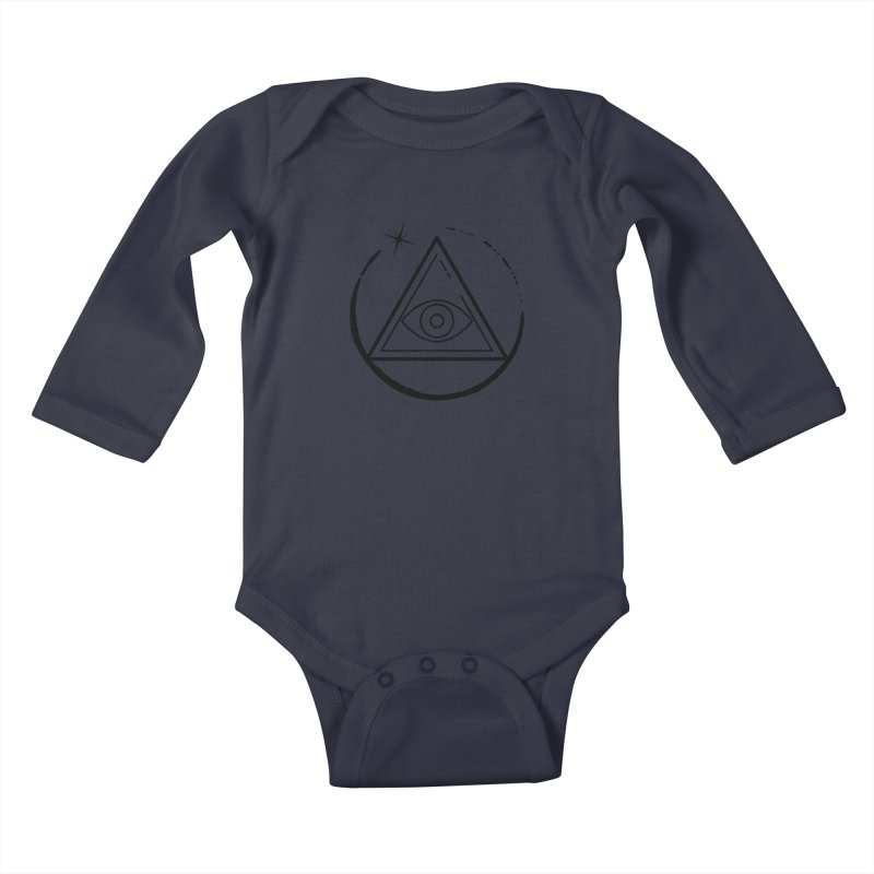 """""""The Society"""" Kids Baby Longsleeve Bodysuit by indyhorrorstory's Artist Shop"""