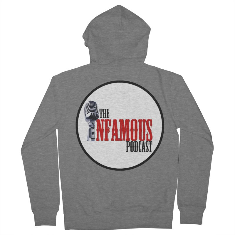 Infamous Podcast Logo Men's Zip-Up Hoody by The Infamous Podcast's Artist Shop