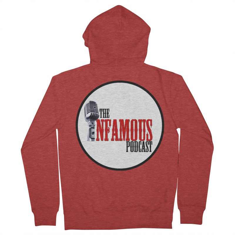 Infamous Podcast Logo Men's French Terry Zip-Up Hoody by The Infamous Podcast's Artist Shop