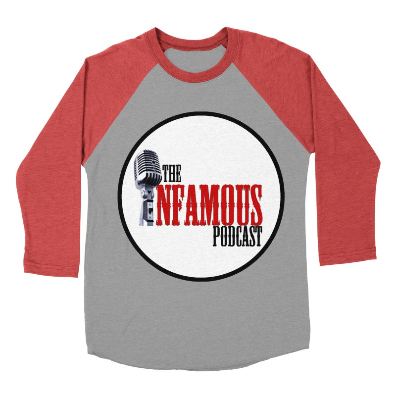 Infamous Podcast Logo Men's Baseball Triblend Longsleeve T-Shirt by The Infamous Podcast's Artist Shop
