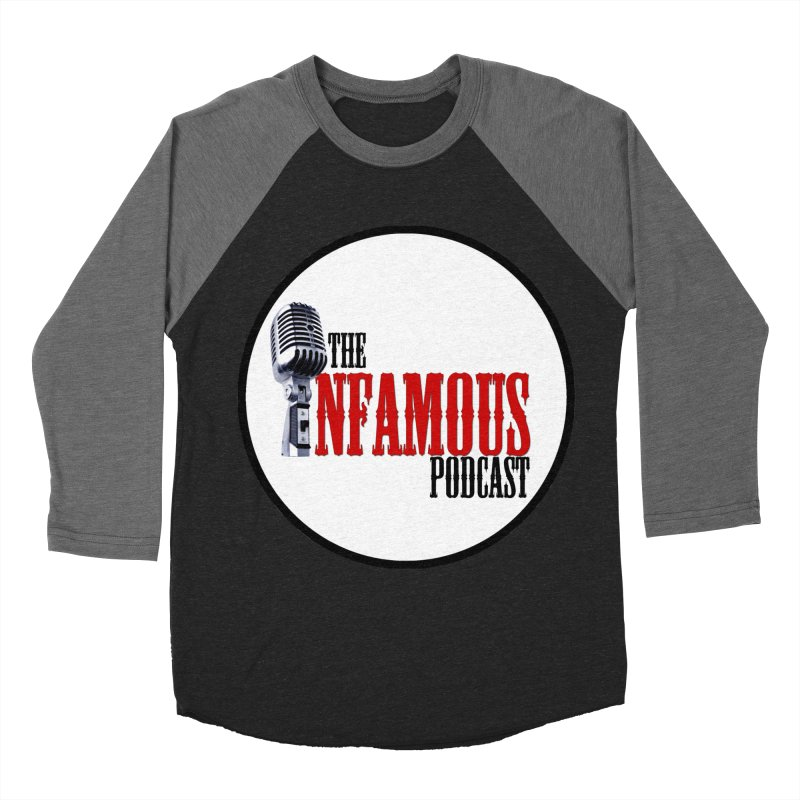 Infamous Podcast Logo Men's Baseball Triblend T-Shirt by The Infamous Podcast's Artist Shop
