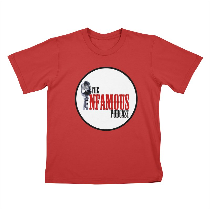 Infamous Podcast Logo Kids T-Shirt by The Infamous Podcast's Artist Shop