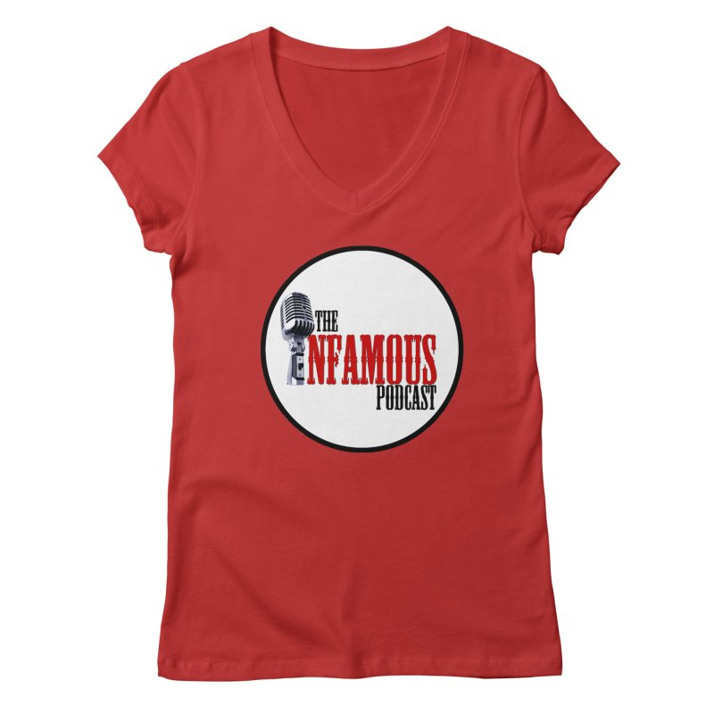 Infamous Podcast Logo Women's Regular V-Neck by The Infamous Podcast's Artist Shop