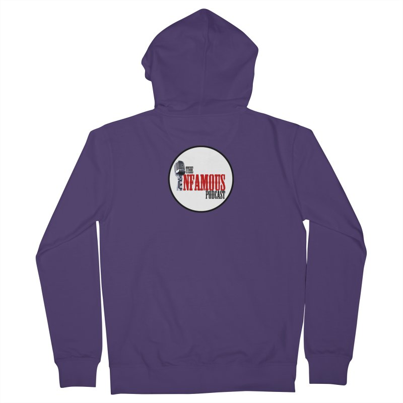 Small Infamous Podcast Logo Women's French Terry Zip-Up Hoody by The Infamous Podcast's Artist Shop