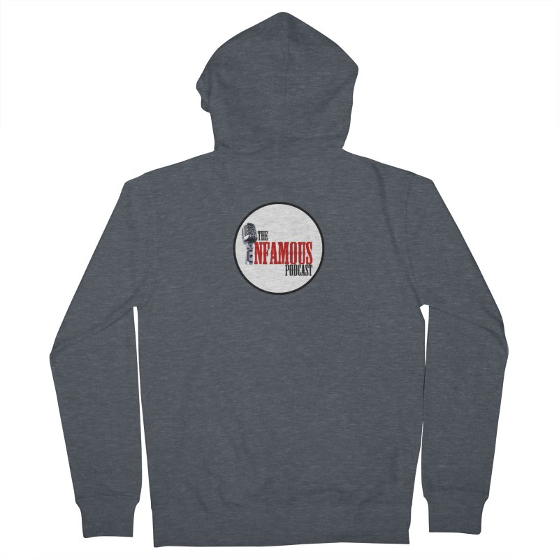 Small Infamous Podcast Logo Men's Zip-Up Hoody by The Infamous Podcast's Artist Shop