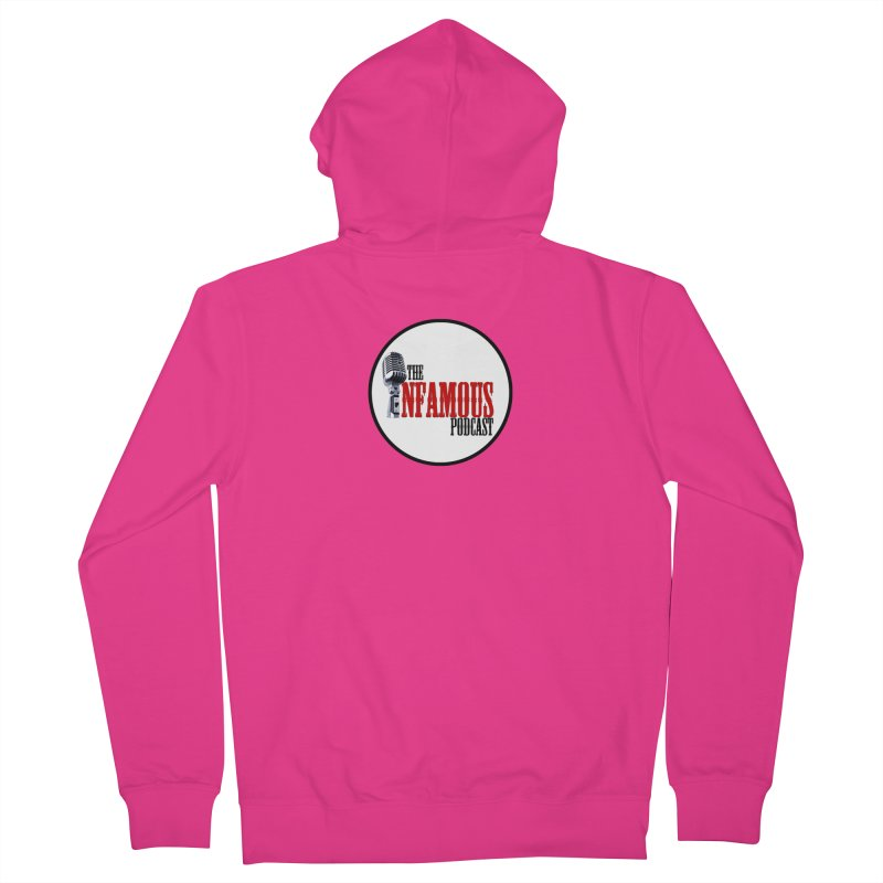 Small Infamous Podcast Logo Men's French Terry Zip-Up Hoody by The Infamous Podcast's Artist Shop
