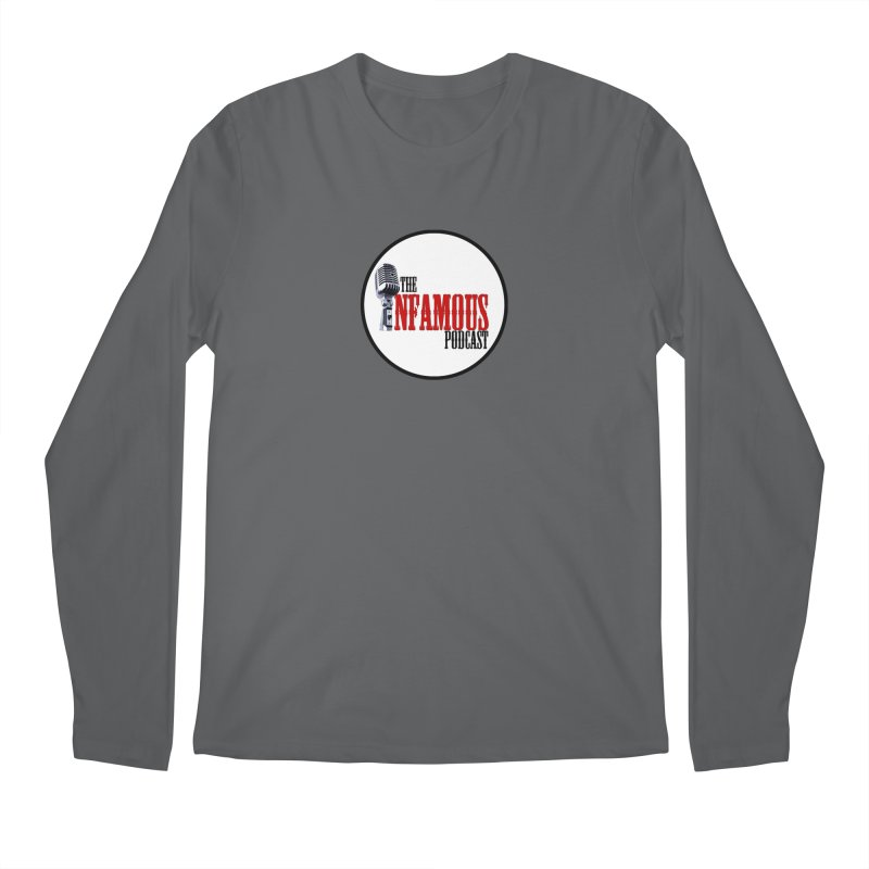 Small Infamous Podcast Logo Men's Longsleeve T-Shirt by The Infamous Podcast's Artist Shop