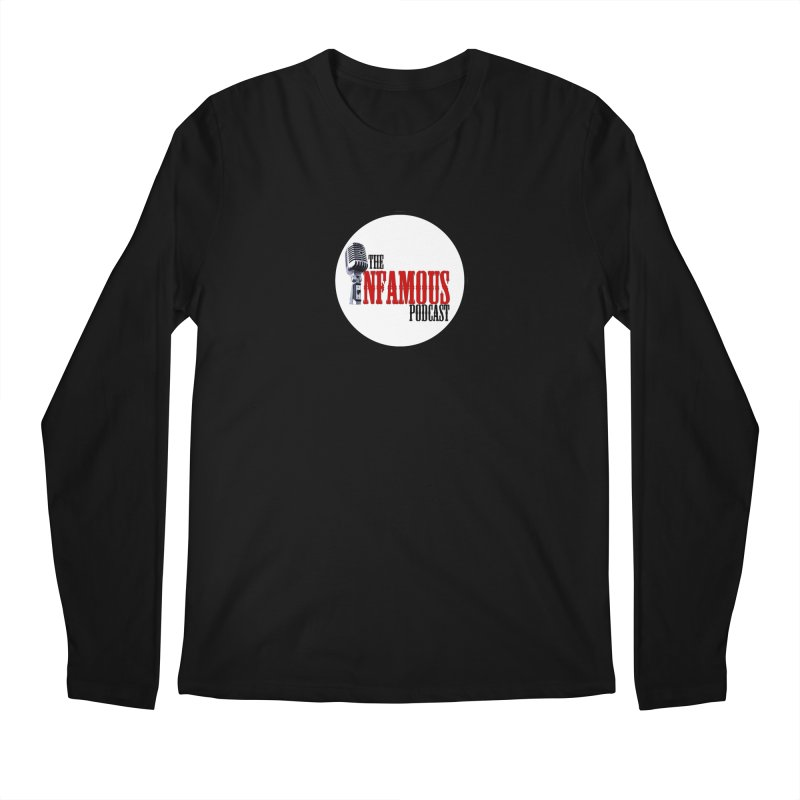 Small Infamous Podcast Logo Men's Regular Longsleeve T-Shirt by The Infamous Podcast's Artist Shop