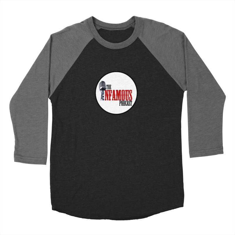 Small Infamous Podcast Logo Men's Baseball Triblend Longsleeve T-Shirt by The Infamous Podcast's Artist Shop