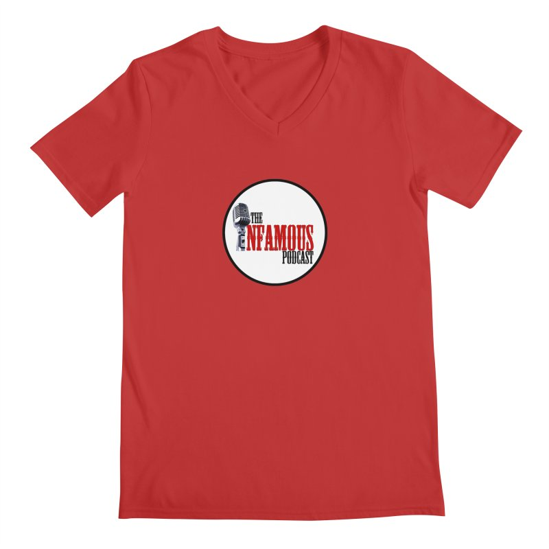 Small Infamous Podcast Logo Men's V-Neck by The Infamous Podcast's Artist Shop