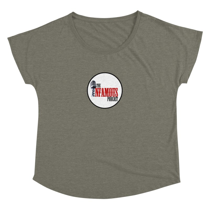 Small Infamous Podcast Logo Women's Dolman Scoop Neck by The Infamous Podcast's Artist Shop