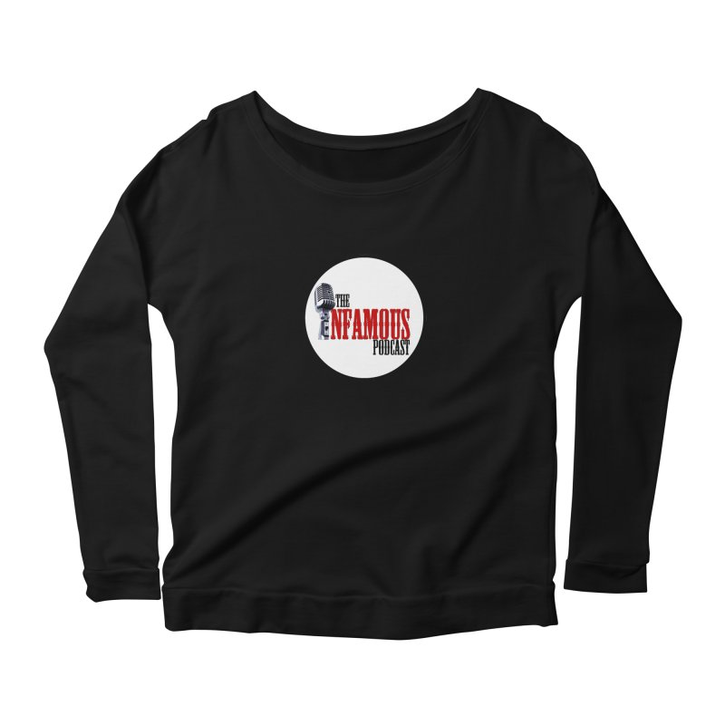 Small Infamous Podcast Logo Women's Longsleeve Scoopneck  by The Infamous Podcast's Artist Shop
