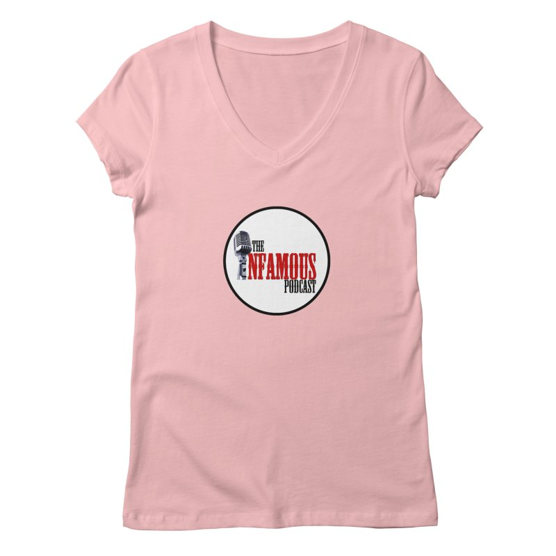 Small Infamous Podcast Logo Women's V-Neck by The Infamous Podcast's Artist Shop