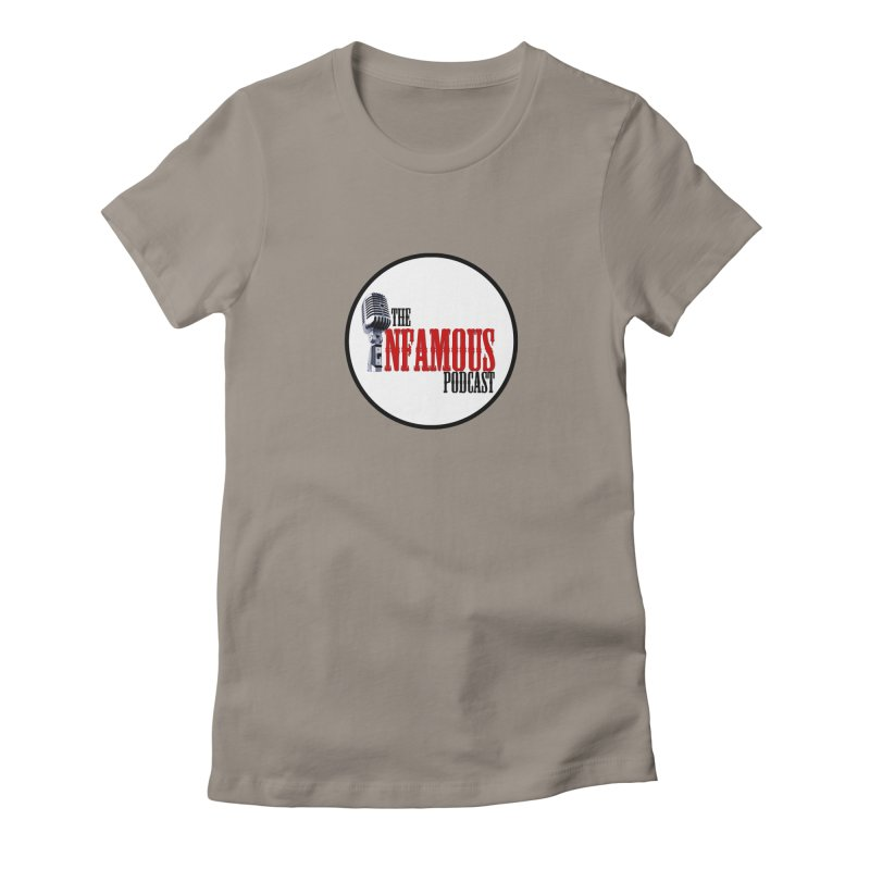 Small Infamous Podcast Logo Women's Fitted T-Shirt by The Infamous Podcast's Artist Shop