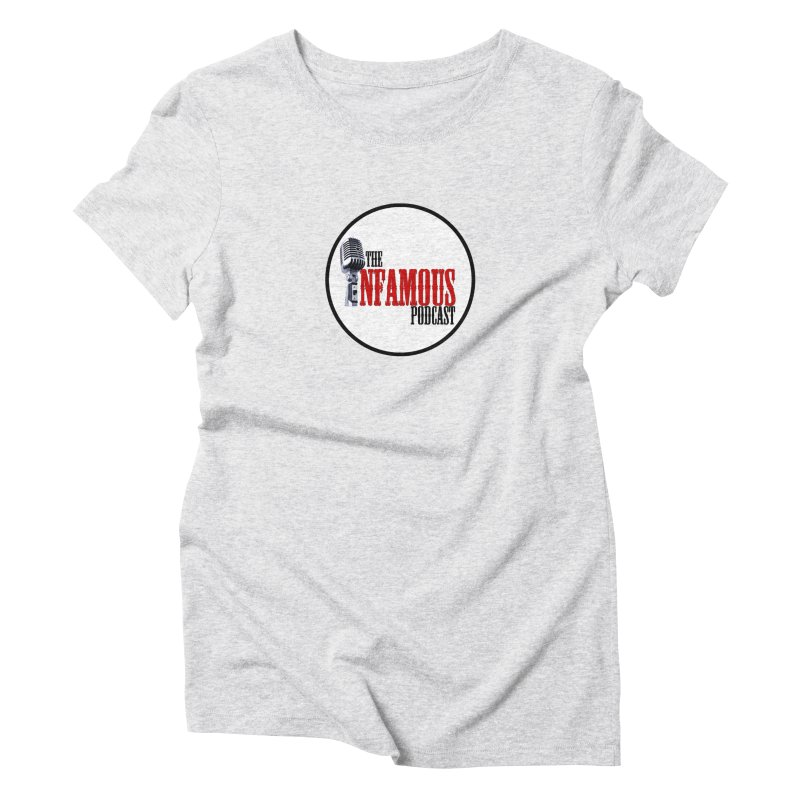 Small Infamous Podcast Logo Women's Triblend T-Shirt by The Infamous Podcast's Artist Shop
