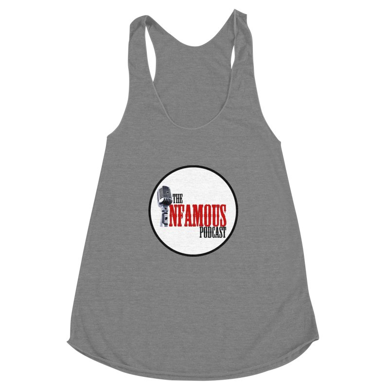 Small Infamous Podcast Logo Women's Racerback Triblend Tank by The Infamous Podcast's Artist Shop