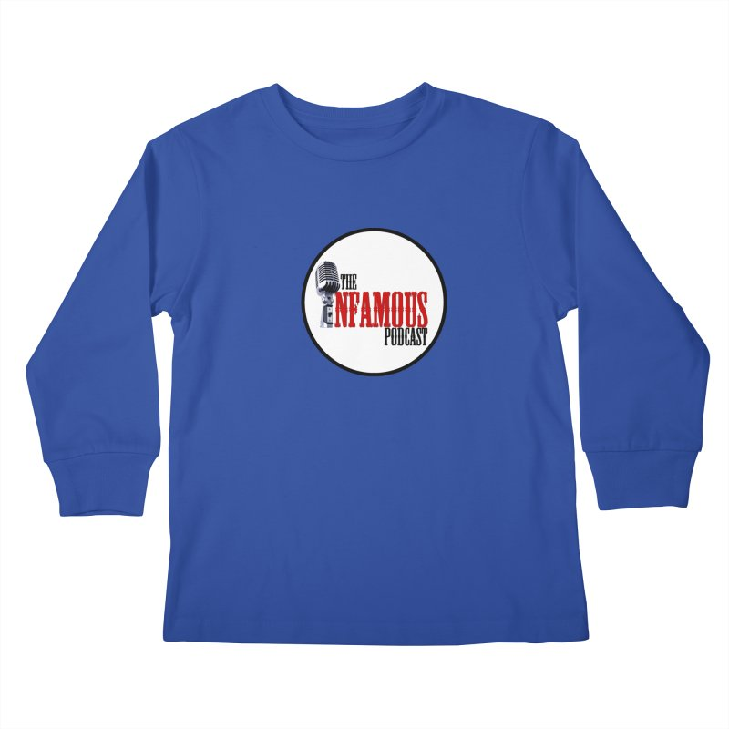 Small Infamous Podcast Logo Kids Longsleeve T-Shirt by The Infamous Podcast's Artist Shop