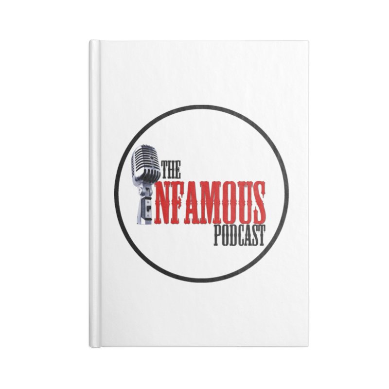 Small Infamous Podcast Logo Accessories Lined Journal Notebook by The Infamous Podcast's Artist Shop