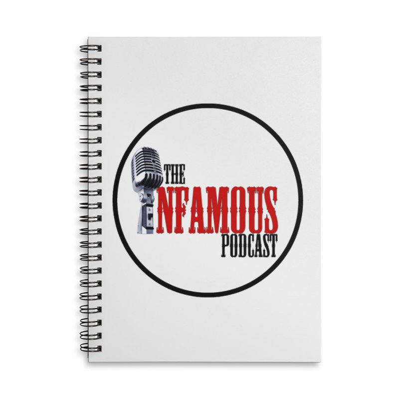 Small Infamous Podcast Logo Accessories Lined Spiral Notebook by The Infamous Podcast's Artist Shop