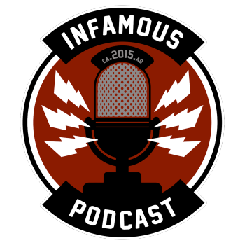 The Infamous Podcast Shop and Haberdashery Logo