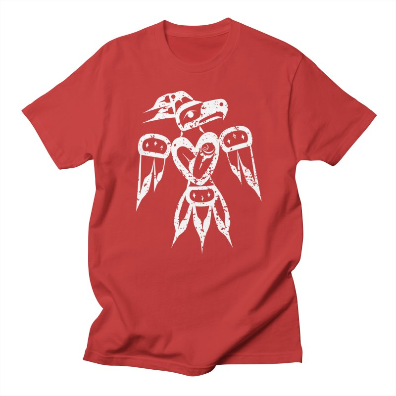 Strong In Heart Thunderbird in Men's Regular T-Shirt Red by Infinity Art Graphics
