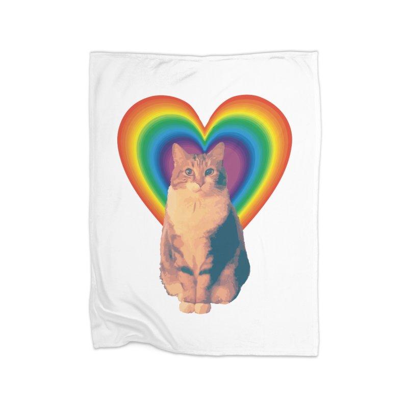 Pretty Kitty in Fleece Blanket Blanket by Infinity Art Graphics