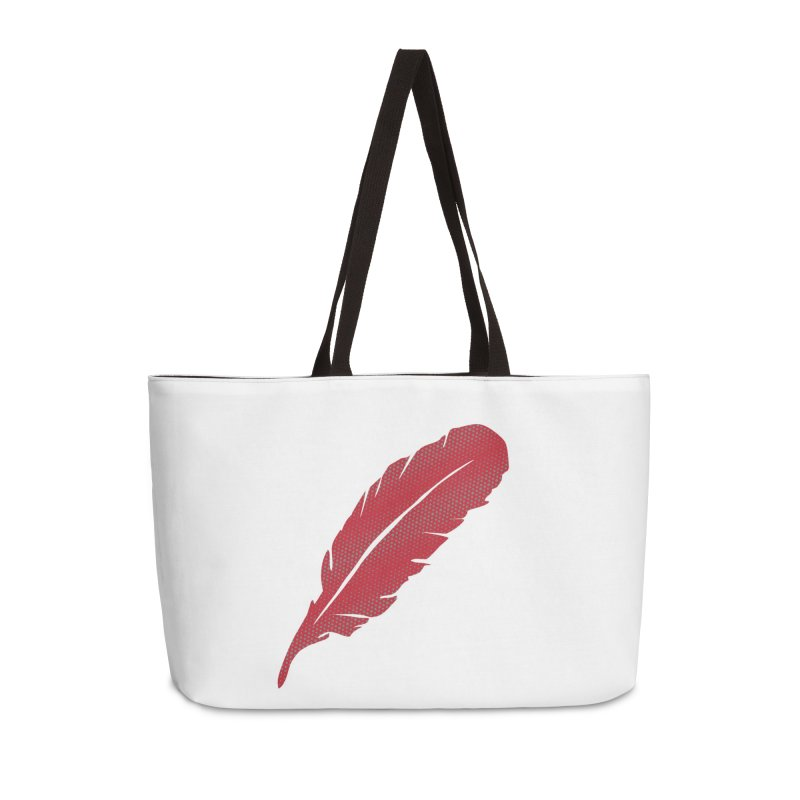 Red Feather in Weekender Bag by Infinity Art Graphics