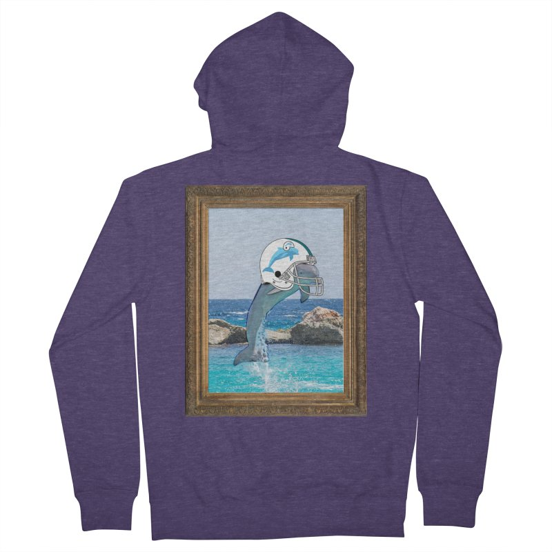 Dolphins Forever Men's Zip-Up Hoody by infinityforever's Artist Shop