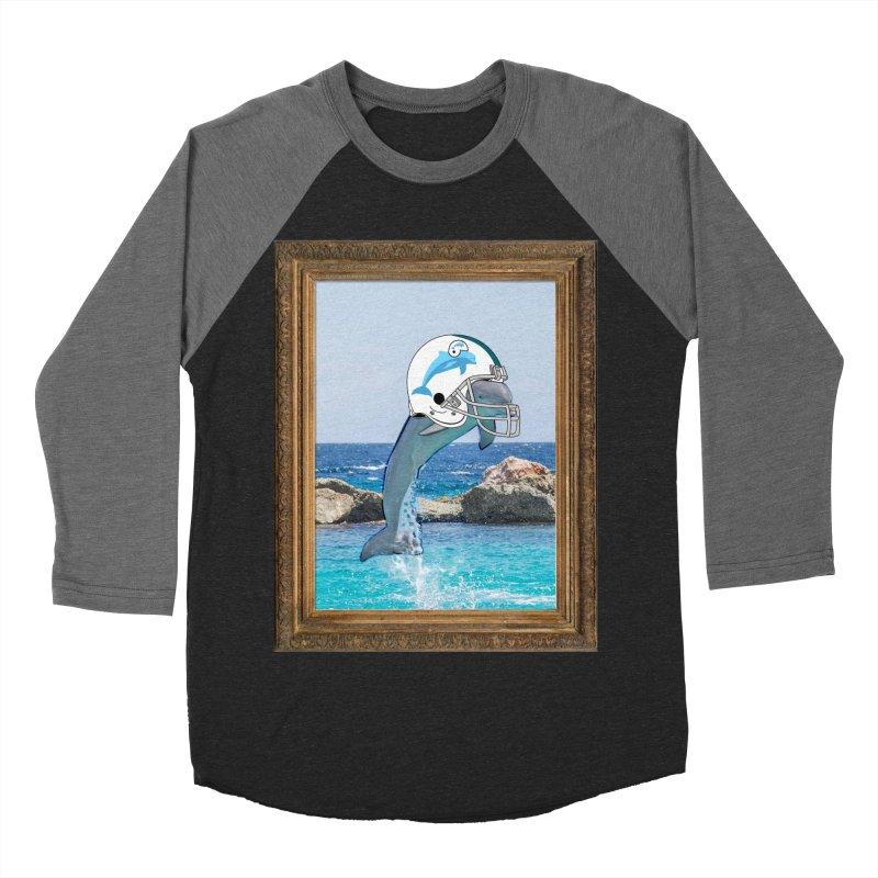 Dolphins Forever Men's Baseball Triblend T-Shirt by infinityforever's Artist Shop