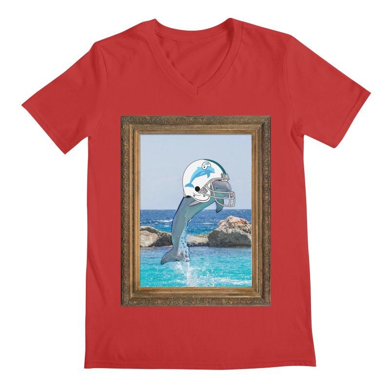 Dolphins Forever Men's V-Neck by infinityforever's Artist Shop