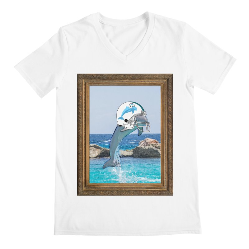 Dolphins Forever Men's V-Neck by infinityforever's Artist Shop