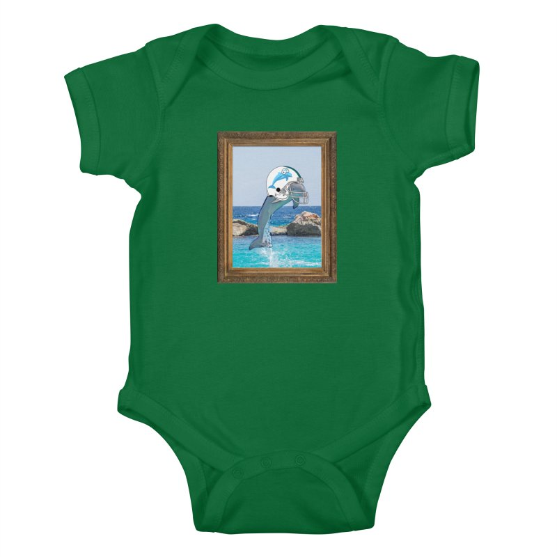 Dolphins Forever Kids Baby Bodysuit by infinityforever's Artist Shop