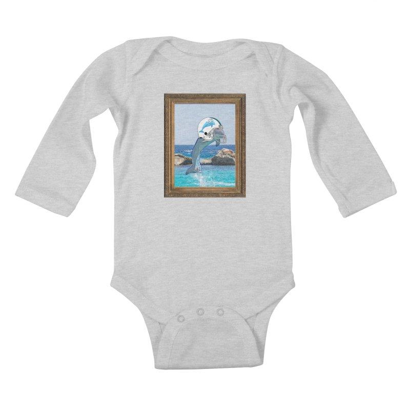 Dolphins Forever Kids Baby Longsleeve Bodysuit by infinityforever's Artist Shop