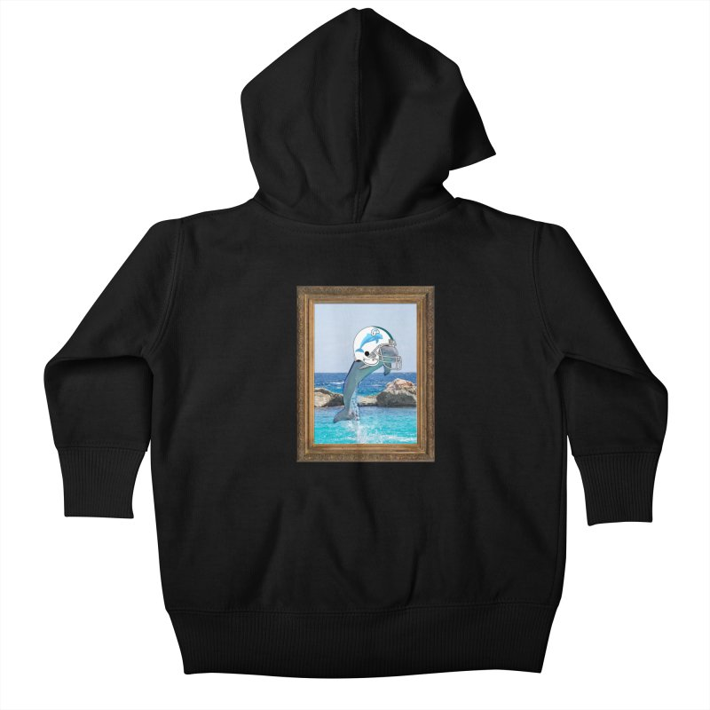 Dolphins Forever Kids Baby Zip-Up Hoody by infinityforever's Artist Shop