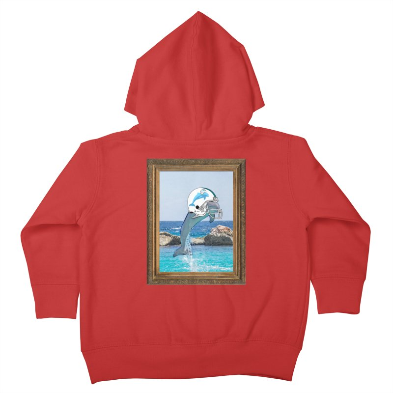 Dolphins Forever Kids Toddler Zip-Up Hoody by infinityforever's Artist Shop