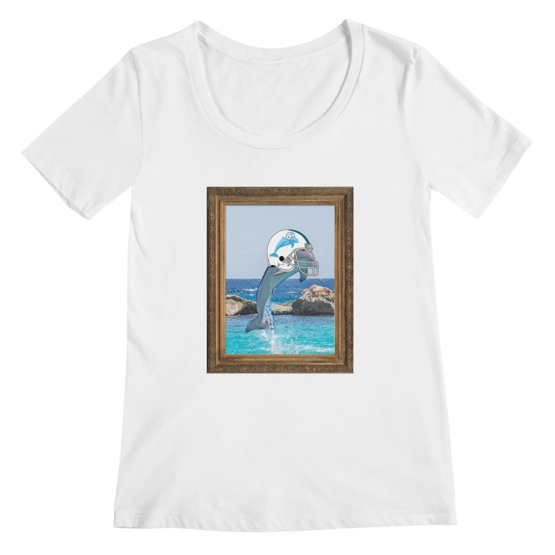 Dolphins Forever Women's Scoopneck by infinityforever's Artist Shop